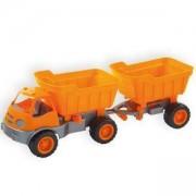 Детски камион с ремарке и гумени колела 10172 MOCHTOYS, 5907442101720