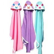 BRANDONN NEWBORN Original 3PCS.. Big Size (36 X 27) Cute Baby Blankets For Babies (Pink Purple C-Green Pack of 3)