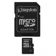 Kingston memoria 16GB microSDHC Class 4 Flash Card