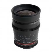 Samyang 35mm T1.5 Sony A VDSLR - Cine Lens