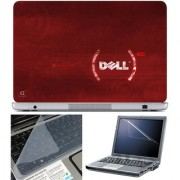 Finearts Laptop Skin 15.6 Inch With Key Guard & Screen Protector - Dell Red