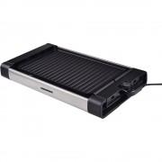 Grill electric Heinner HEG-F1800, 1800W, Placa detasabila cu invelis anti-adeziv, Temperatura reglabila 150ºC - 210ºC, Negru/inox
