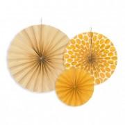 Körlegyező papír 23,32,40cm sárga (3 db/szett)