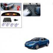 Auto Addict Car Silver Reverse Parking Sensor With LED Display For Toyota Camry