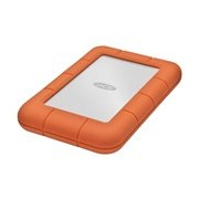 LaCie Rugged Mini 2 TB Portable Hard Drive - External - Orange, Silver