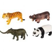 Emob Amazing Realistic Look Wild Animal Kingdom figures Play Set Toy for Kids (Multicolor)