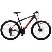 "Bicicleta mountainbike Omega Thomas, Model 2018, Roti 27.5"" (Negru/Portocaliu)"