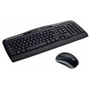 Logitech Wireless Combo MK330 - Conjunto de teclado e rato - sem fios - 2.4 GHz - Estados Unidos Internacional / Europa de Lest
