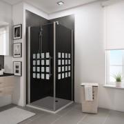 Schulte Home Porte de douche pivotante + paroi latérale 90 x 90 cm, anticalcaire