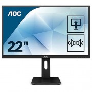 "AOC 21.5"" 1920x1080 Full HD 2ms HDMI VGA DVI LED Monitör Siyah 22P1D"