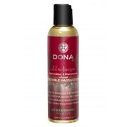 Olio Massaggi Commestibile DONA Fragranza Fragola con Feromoni 125 ml.