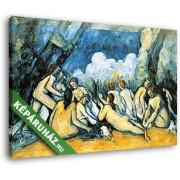 Paul Cézanne: Fürdőzők (35x25 cm, Vászonkép )