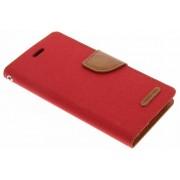 Rode Canvas Diary Case voor de iPhone Xs / X