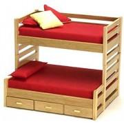 Town Square Miniautre Dollhouse Miniature Oak Trundle Bunk Bed