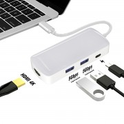 TCH002 Multifunctional USB Type-C to 4K HDMI + Two USB 3.0 + Type-C PD Charging Ports Hub Adapter
