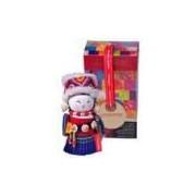 Boneca Decorativa Oriental Gaoshan Pequeno Em Tecido - 12x7 Cm