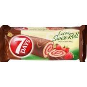 Rulada Glazura Cacao si Umplutura Capsuni si Vanilie 7 Days 200g