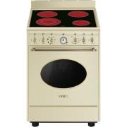 Aragaz SMEG Coloniale CO68CMP9, 60X60cm, inductie, 4 zone gatire, cuptor electric, timer, aprindere electronica, crem
