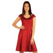 LITEX Šaty dámské bez rukávu. 51043316 tmavě červené melé s leskem S