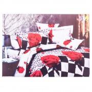 Спално бельо 3D Ralex с рози и геометрични форми