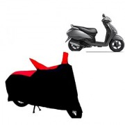 AutoAge Two Wheeler Red+Black Cover for TVS Jupiter