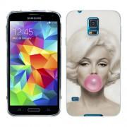Husa Samsung Galaxy S5 Mini G800F Silicon Gel Tpu Model Marilyn Monroe Bubble Gum
