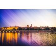Warszawa Panorama Stare Miasto - plakat premium