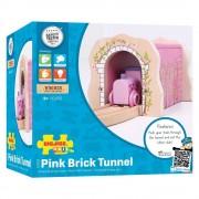 Tunel roz - Set constructie traseu trenulet din lemn