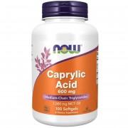 Now Foods Kyselina Kaprylová 600 mg 100 kapslí
