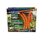 Ben 10 Alien Force Super Train Ages 3+ by ClueSteps Battery Operated with only 1 battery required, 1 Engine along with two boggies also 3 round shape tracks and 3 straight shape track