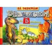 Sa desenam dinozauri cu 5 sabloane pentru desenat