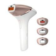 Epilator IPL , Senzor Smartskin, utilizare cu sau fara fir, 250.000 impusuri, accesoriu corp, axila si inghinal, Auriu/Alb BRI956/00