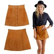 V&V Dámská Vintage sukně - imitace broušené kůže (XL) - V&V