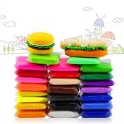 iFergoo 24 Pcs Colorful Kids Ultra Light Moldeling Clay Magic Air Dry Artist Studio Toy, Colors No-Toxic Modeling & Dough, Creative Art DIY Crafts Total 485G (17Oz) (24 Clay)