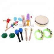 Alcoa Prime Kids Hand Shake Rattle Ring Bell Rainbow Hand Stick Jingle Bells Music Toys