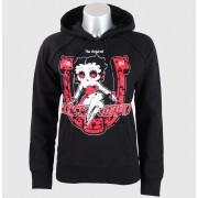 kapucnis pulóver női - Bloody Doll - BLACK HEART - Black