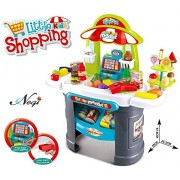 Negi 61 Pcs Luxury Supermarket Grocery Store for Little Kids Shopping with Working Scanner Realistic Playset.(Multicolor)(Supermarket Shop)