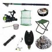 Set lanseta pescuit telescopica eastshark de 3.6m mulineta CB340 pentru pescuit sportiv si accesorii