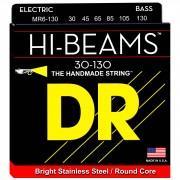 DR 6 cuerdas para bajo 30-130 Hi-Beam Stainless Steel MR6-30-130
