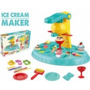 Set de joaca creativ cu plastilina Fabrica de inghetata accesorii incluse
