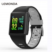 LEMONDA M3 GPS Sports Smart Watch 1.3 inch HD IPS Screen Six Watchfaces Real-time Activity Tracking - Black/Grey