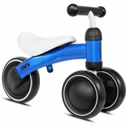 Tricicleta fara pedale Mini Kazam Kzmmini, 3 roti, 12 luni+, Albastru