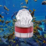 EW Forma LED Diamond Deep Sea Fishing Lámpara LED Atraer Luz Pesca De Diversión Rojo.