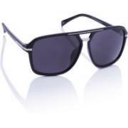 Flying Machine Round Sunglasses(Black)