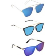 Pogo Fashion Club Wayfarer, Retro Square, Cat-eye Sunglasses(Blue)