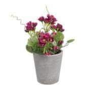 Flori artificiale burgundy in ghiveci 7x16h