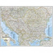 Harta regionala Balcani National Geographic