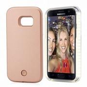 Husa Lumee Leduri Samsung Galaxy S6 Edge Pink Gold