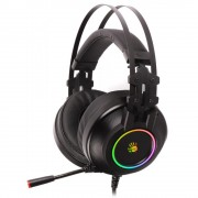 HEADPHONES, A4 Bloody G528C, Microphone, 7.1, USB, Black (A4-HEAD-G528C)