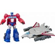 Set de joaca robot Optimus Prime si Sky Turbine Spark Armor Transformers Cyberverse